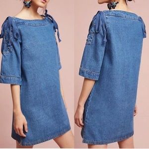 Anthro Maeve Medium Denim Shift Dress